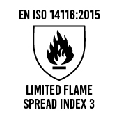 EN ISO 14116:2015 Limited flame spread index 3